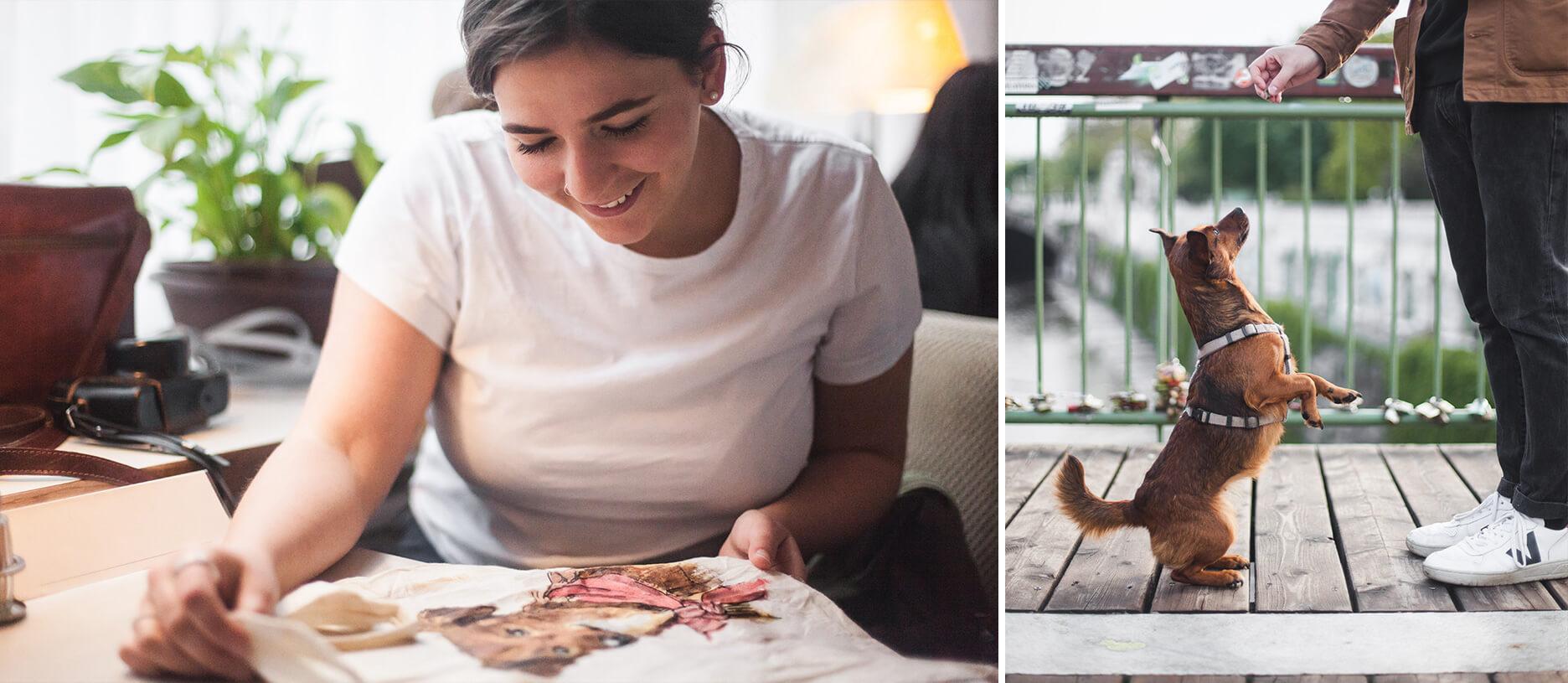 Die Stadthunde Maximilian Salzer Photograph Fotograf Sophie Nawratil Kunststudentin Rosie Rosierosebear adoptdontshop Portrait Jolly Schwarz Photography Alexandra Stalzer Grafikdesign Wien Hunde Stadt